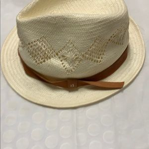 Good condition hat with leather trim